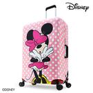 箱套 DESENO DISNEY 迪士尼 米妮MINNIE 點點 彈性箱套 行李箱套 行李保護套 L號 粉嫩泡泡 B1129-0005