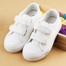 兒童小白鞋 兒童帆布鞋男童白色板鞋女童低筒小白鞋小學生運動球鞋-Ballet朵朵