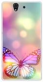✿ 3C膜露露 ✿ {花蝴蝶*水晶硬殼} Sony Xperia Z /L36H / C6602手機殼 手機套 保護套 保護殼