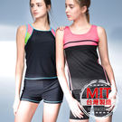 MIT色塊背心泳褲兩件式泳衣套裝(附帽) 預購【36-66-817108】ibella 艾貝拉