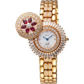 Ogival愛其華 花開富貴真鑽珠寶錶-珍珠貝x玫塊金/32mm 380-55DLR