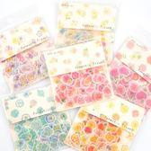 【BlueCat】浪漫花系列和紙貼紙包(80枚)