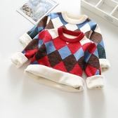 兒童毛衣男童毛衣套頭秋冬款寶寶童裝加絨加厚兒童女童洋氣針織打底衫 限時特惠