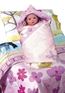 碧多妮嬰兒商品-叢林動物園-60支精梳棉嬰兒包巾-使用純蠶絲填充