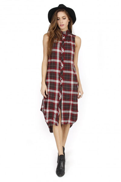 LIRA KEEP IT REAL DRESS品味嚴選洋裝-女(栗紅)