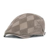 貝雷帽-流行菱格棉質休閒男女鴨舌帽4色73tv92【時尚巴黎】