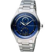 INDEPENDENT 潮流不敗 時尚腕錶 KB1-210-73 藍
