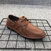 紳士鞋外貿品牌斷碼撤柜處理男鞋2020新款休閒鞋男系帶車縫線紳士男皮鞋 潮人