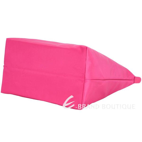 LONGCHAMP Le pliage Neo 大型 長提把厚磅尼龍水餃包(亮粉色) 1440227-13