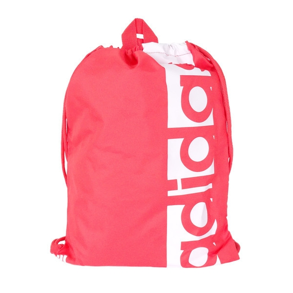 Adidas Linear Performance Gym Sack [S99989] 健身袋 束口袋 抽繩 輕量 粉紅