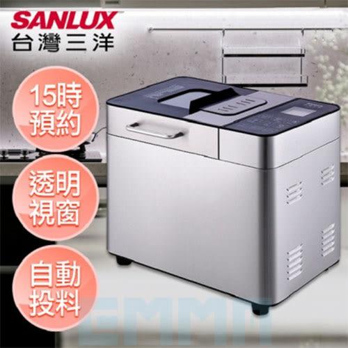 SANLUX 台灣三洋 SKB-8202 製麵包機 觸控液晶顯示 自動投入配料 15種製作模式 大容量 鐵灰