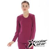 PolarStar 女 圓領排汗 保暖衣   發熱衣 『紅紫』P15216
