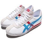 Asics 復古慢跑鞋 Tiger Corsair 白 紅 藍 低筒 皮革 休閒鞋 復古 經典基本款 男鞋 女鞋【PUMP306】D7N2L0141