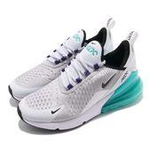 Nike 慢跑鞋 Air Max 270 GS 白 綠 大氣墊 大型後跟氣墊 運動鞋 女鞋 大童鞋【PUMP306】 943345-010