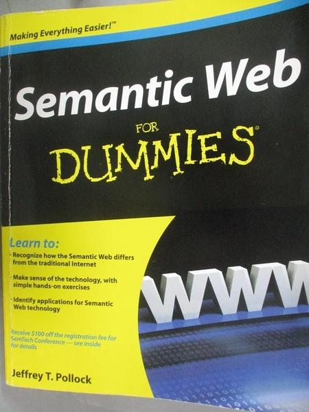 【書寶二手書T6/電腦_E2I】Semantic Web for Dummies_Pollock, Jeffrey T.