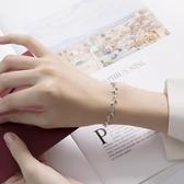 項錬 手錬女純銀 韓版簡約學生閨蜜個性森系月光森林925銀手錬首飾禮物   英賽爾3C數碼店