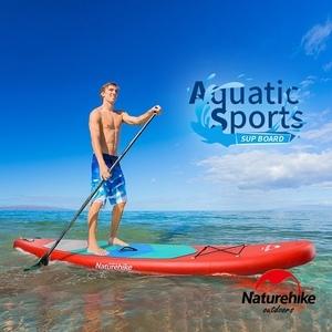 Naturehike 高強度充氣式水上衝浪板 滑水板 SUP 附划槳 藍色小號