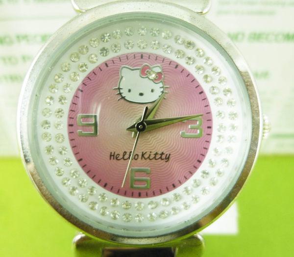 【震撼精品百貨】Hello Kitty 凱蒂貓~手錶-粉鑽【共1款】