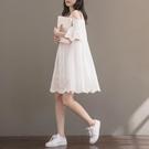 洋裝 棉麻裙子少女夏裝2020年新款初中高中學生正韓寬鬆娃娃棉麻洋裝-Ballet朵朵