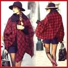 英倫風千鳥格人造羊毛雙面披肩 歐美格子保暖圍巾【AF09109】 i-style 居家生活