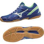 MIZUNO CYCLONE SPEED 男鞋 排球 羽球 膠底 藍 綠 【運動世界】 V1GA178073