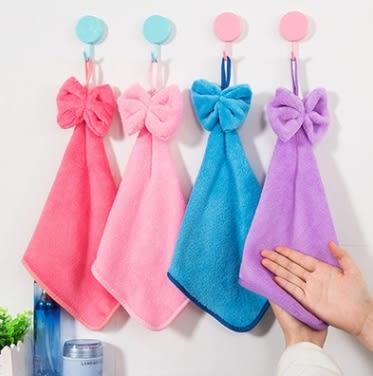 預購- 加大加厚蝴蝶結珊瑚絨擦手巾