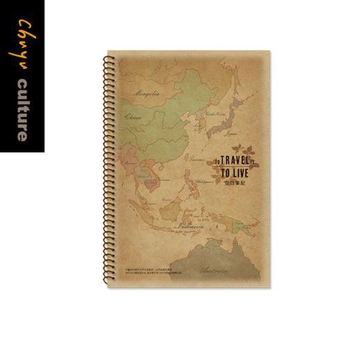 B5牛皮線圈筆記(大格)-東亞【珠友文化】