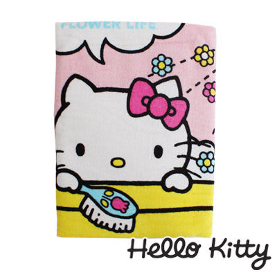 Sanrio三麗鷗Hello Kitty系列-凱蒂貓花朵浴缸大浴巾