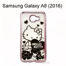 Hello Kitty 電鍍軟殼 [小熊] Samsung Galaxy A8 (2016)【三麗鷗正版授權】