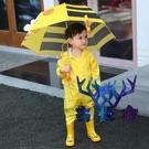 兒童雨衣連身防護雨披全身雨具男女童寶寶小孩中大童【古怪舍】