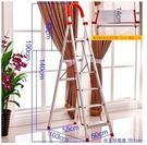 設計師室內梯加厚鋁合金梯子不銹鋼梯人字梯...