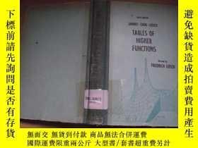 二手書博民逛書店Tables罕見of Higher Functions(高等函數