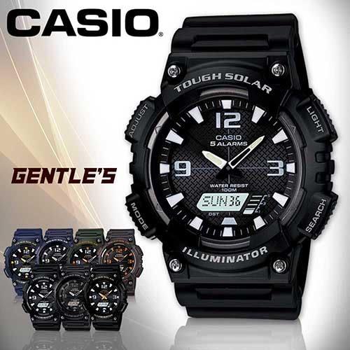 CASIO 卡西歐手錶專賣店 AQ-S810W-1A 男錶 黑面 雙顯錶 橡膠錶帶 太陽能電力 碼錶 節電 防水