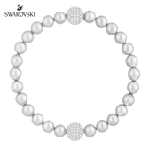 施華洛世奇 Remix Collection Light Gray Crystal Pearl 優雅別緻鍍白金色飾鏈