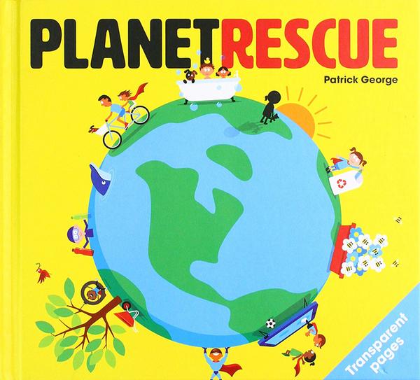 【麥克書店】PLANET RESCUE /精裝英文繪本《環境保護/膠片書》
