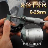 外徑千分尺0-25mm精度0.001電子螺旋測微器高精度數顯測厚儀