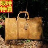 行李袋-肩背歐美時尚大氣復古多口袋超大容量男手提包66b27[巴黎精品]