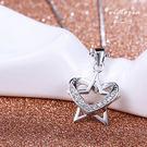 S925純銀閃人耀眼水鑽鎖骨鍊-維多利亞160585