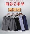 睡褲 夏季睡褲男士純棉短褲薄款全棉五分褲寬鬆大碼休閒居家褲衩2件裝