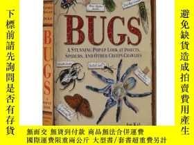 二手書博民逛書店昆蟲立體書罕見英文原版 Bugs: A Stunning Pop-up 自然百科 兒童英語入門Y335736
