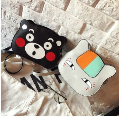 預購-可愛卡通動漫熊本熊肩背斜背包