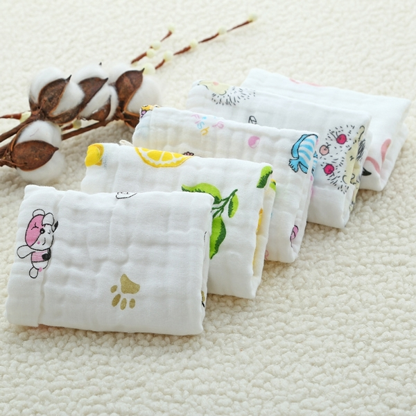 泡泡六層紗布小方巾 五入組 獨角獸 | 背巾方巾 (嬰幼兒童/寶寶/新生兒/baby)
