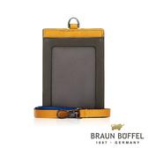 【BRAUN BUFFEL德國小金牛】哈里森系列透明窗撞色證件夾(深卡其綠) BF328-600-MT