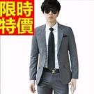 西裝套裝韓版典型-潮男嚴選經典明星款成套男西服4色54o7【巴黎精品】
