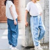 2019年新款薄款夏季女童 寶寶洋氣直筒牛仔兒童防蚊褲  LN2698【bad boy時尚】