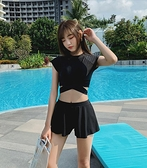 新款泳衣女仙女範大碼分體保守遮肚顯瘦學生溫泉泳裝性感韓風ins