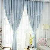 窗簾成品全遮光布落地窗 飄窗 紗簾美式