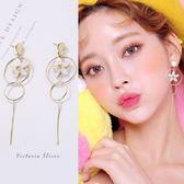 925純銀針  韓國優雅氣質   貓眼石花朵耳環-維多利亞181284
