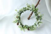 森林系松果新娘花環頭飾度假配飾