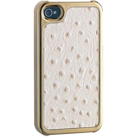 【A Shop】 Ozaki No Extinction Arabian Ostrich iPhone 4S 白鴕鳥紋時尚保護殼